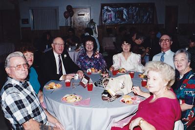Wes Brewer, Billie Brewer, Frank Clouse, Leah Clouse, Pat Wild, Bob Wild, Zulie Clouse, Harriett Clouse (Left to Right)