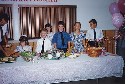 Ron Metcalfe, Merry Metcalfe, Michael Clouse, Joy Metcalfe, Matthew Clouse, Bethany Friesen, Joshua Friesen (Left to Right)