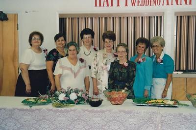 JoAnn Ingram, Alice Vakulich, Phyllis Logston, Barbara King, Joyce. Gentzler,  plus other church friends.