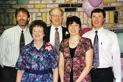 (Back) Dan Clouse, Frank Clouse, David Clouse (Front) Leah Clouse, Patty Clouse Friesen