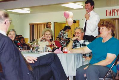 Frank Clouse, Zulie Clouse, Harriett Clouse, Wes Brewer, David Clouse (standing) Billie Brewer  (Left to Right)