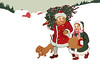 "Children bundled up, walking in the snow, and carrying their fresh-cut Christmas tree - a 1908 vintage illustration. The ""XLarge"" and smaller photo sizes are FREE for any personal use (under a <a href=""http://creativecommons.org/licenses/by-nc-nd/2.0/"">Creative Commons</a> license). Click the ""Buy"" or shopping cart button (above the image) to purchase prints or downloads. PRICING: 1-megapixel Personal downloads are $1.89; 4-megapixel and ""Original"" (9-megapixel) Personal downloads are $4.95; 1-megapixel Commercial downloads are $9.95, 4-megapixel and ""Original"" (9-megapixel) Commercial downloads are $49.95; NOTE: Free personal use requires a photo credit to my company, ''<a href=""http://www.tssphoto.com/"">The Stock Solution</a>'', and link to that Web site if you use the image on a personal Web site. Do not redistribute digital copies via email -- instead, please link to this web page. Be sure to see all our <a href=""http://roycebair.smugmug.com/Vintage-Collections"">Vintage Collections</a>."