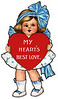 "Cute little girl holding red heart - a 1910 Valentine illustration - with the greeting, 'My Heart's Best Love.'  The ""XLarge"" and smaller photo sizes are FREE for any personal use (under a <a href=""http://creativecommons.org/licenses/by-nc-nd/2.0/"">Creative Commons</a> license). Click the ""Buy"" or shopping cart button (above the image) to purchase prints or downloads. PRICING: 1-megapixel Personal downloads are $1.89; 4-megapixel and ""Original"" (7-megapixel) Personal downloads are $4.95; 1-megapixel Commercial downloads are $9.95, 4-megapixel and ""Original"" (7-megapixel) Commercial downloads are $49.95; NOTE: Free personal use requires a photo credit to my company, ''<a href=""http://www.tssphoto.com/"">The Stock Solution</a>'', and link to that Web site if you use the image on a personal Web site. Do not redistribute digital copies via email -- instead, please link to this web page. Be sure to see all our <a href=""http://roycebair.smugmug.com/Vintage-Collections"">Vintage Collections</a>."