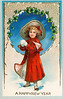 "'A Happy New Year' - vintage clipart - Victorian (circa 1905) greeting card illustration, showing a young girl in a bright red coat holding a snowball she about ready to throw. The ""XLarge"" and smaller photo sizes are FREE for any personal use (under a <a href=""http://creativecommons.org/licenses/by-nc-nd/2.0/"">Creative Commons</a> license). Click the ""Buy"" or shopping cart button (above the image) to purchase prints or downloads. PRICING: 1-megapixel Personal downloads are $1.89; 4-megapixel and ""Original"" (6-megapixel) Personal downloads are $4.95; 1-megapixel Commercial downloads are $9.95, 4-megapixel and ""Original"" (6-megapixel) Commercial downloads are $49.95; NOTE: Free personal use requires a photo credit to my company, ''<a href=""http://www.tssphoto.com/"">The Stock Solution</a>'', and link to that Web site if you use the image on a personal Web site. Do not redistribute digital copies via email -- instead, please link to this web page. Be sure to see all our <a href=""http://roycebair.smugmug.com/Vintage-Collections"">Vintage Collections</a>."