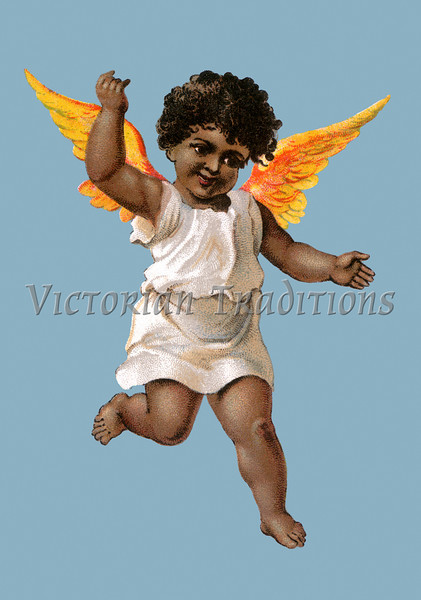 A black (African-american) angel - circa 1890