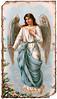A vintage angel illustration with tree branch framing - circa 1890