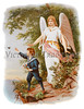 Guardian Angel Protecting a Child - Circa 1890 Victorian Illustration