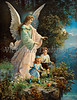 Guardian Angel Protecting Children - Circa 1890 Victorian Illustration