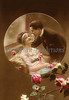 "Romantic couple in love - circle portrait with flowers - a vintage,  hand-tinted photograph. NOTE: This image is only available in the 1-megapixel size (do not waste your money on the 4-megapixel and ""Original"" size, as they are still only 1-megapixel when opened :)"