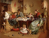 "Family life at meal time - a vintage illustration. NOTE: This image is only available in the 1-megapixel size (do not waste your money on the 4-megapixel or ""Original"" size, as they are still only 1-megapixel when opened :)"