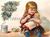 "Little girl feeding her doll, a vintage illustration. NOTE: This image is only available in the 1-megapixel size (do not waste your money on the 4-megapixel or ""Original"" size, as they are still only 1-megapixel when opened :)"