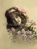 "Portrait of little girl with flowers - a vintage,  hand-tinted photograph. NOTE: This image is only available in the 1-megapixel size (do not waste your money on the 4-megapixel and ""Original"" size, as they are still only 1-megapixel when opened :)"