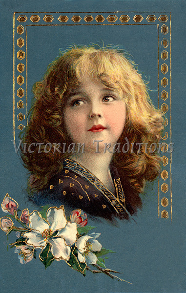 "Portrait of a little girl - a vintage illustration. NOTE: This image is only available in the 1-megapixel size (do not waste your money on the 4-megapixel or ""Original"" size, as they are still only 1-megapixel when opened :)"