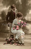 "Portrait of a Romantic Couple - a vintage, hand-tinted photograph. NOTE: This image is only available in the 1-megapixel size (do not waste your money on the 4-megapixel and ""Original"" size, as they are still only 1-megapixel when opened :)"