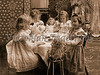 "Little girls having a tea party with their dolls - a vintage photograph. NOTE: This image is only available in the 1-megapixel size (do not waste your money on the 4-megapixel or ""Original"" size, as they are still only 1-megapixel when opened :)"