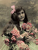 "Portait of a young girl holding flowers - a vintage, hand-tinted photograph. NOTE: This image is only available in the 1-megapixel size (do not waste your money on the 4-megapixel and ""Original"" size, as they are still only 1-megapixel when opened :)"