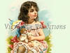 "Little girl shading her doll with a parasol - a vintage illustration. NOTE: This image is only available in the 1-megapixel size (do not waste your money on the 4-megapixel or ""Original"" size, as they are still only 1-megapixel when opened :)"