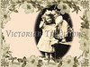 "Young girl playing with her doll, surround by a flower frame - a vintage photograph. NOTE: This image is only available in the 1-megapixel size (do not waste your money on the 4-megapixel or ""Original"" size, as they are still only 1-megapixel when opened :)"