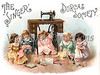 "Little girls sewing with their dolls - The Singer Dorcas Society - a vintage illustration. NOTE: This image is only available in the 1-megapixel size (do not waste your money on the 4-megapixel or ""Original"" size, as they are still only 1-megapixel when opened :)"
