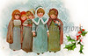 "Children Christmas Carollers - a circa 1900 vintage illustration. Your purchased prints & downloads will NOT have ""Victorian Traditions"" watermark."