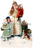 """A vintage Christmas illustration of St. Nicholas giving gifts to children - circa 1890 (licensed from the Nancy Rosin Collection). Your purchased prints & downloads will NOT have """"Victorian Traditions"""" watermark."""