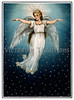 "A vintage Christmas illustration of a angel flying in a starry night sky - circa 1890 (licensed from the Nancy Rosin Collection). Your purchased prints & downloads will NOT have ""Victorian Traditions"" watermark."