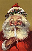 Santa Claus making a list - A Victorian illustration