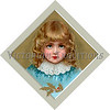 """A vintage Christmas illustration of a young girl - circa 1890 (licensed from the Nancy Rosin Collection). Your purchased prints & downloads will NOT have """"Victorian Traditions"""" watermark."""