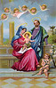 "Holy Family - vintage Christmas illustration of Christ child. Your purchased prints & downloads will NOT have ""Victorian Traditions"" watermark."