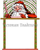 "Santa Claus writes a message - holly border & frame - a 1914 vintage illustration. Your purchased prints & downloads will NOT have ""Victorian Traditions"" watermark."