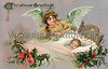 Christmas angel - a 1910 vintage greeting card illustration