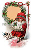 "Little Girl in Christmas Bonnet & Muffler - a 1916 vintage illustration. Your purchased prints & downloads will NOT have ""Victorian Traditions"" watermark."