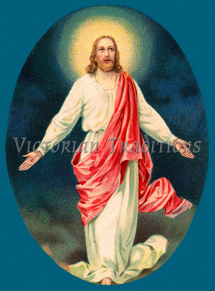 Resurrected Jesus Christ - a Vintage Easter Illustration, circa 1910