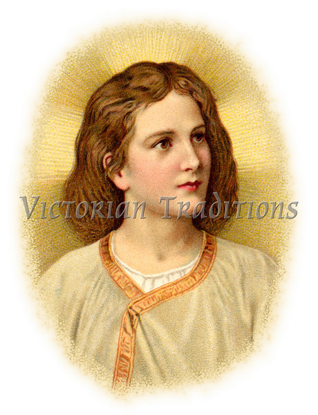 "Portraint of the Christ Child - a circa 1910 vintage illustration. (To purchase prints or downloads, click on the ""Buy"" or shopping cart button above the image; then choose ""This Photo"", followed by clicking on the 'Prints', 'Merchandise', or 'Downloads' tab.)"