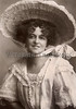 Woman with a large Easter bonnet - A Victorian Era photograph, circa 1911