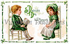 A St. Patrick's Day greeting card illustration - 'Fond memories' - circa 1911