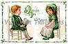 A St. Patrick's Day greeting card illustration - 'Fond memories' - circa 1911
