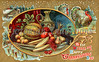 "''Best Wishes For A Happy Thanksgiving Day'' - an ornate illustration from a vintage greeting card - circa 1910. Your purchased prints & downloads will NOT have the ""Victorian Traditions"" watermark."