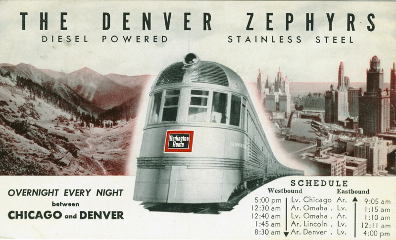 Denver Zephyr Train