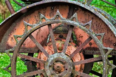 Iron Tractor Wheel