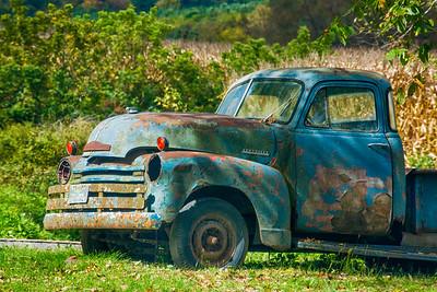 Blue Chevy Truck