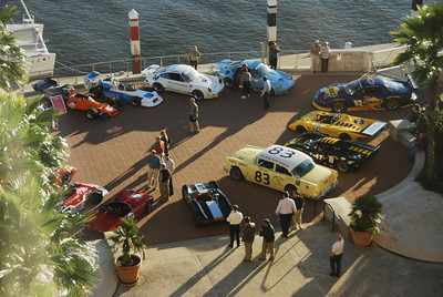 Display of historic race cars at the Westin Savannah Harbor Resort, Oct. 30, 2008