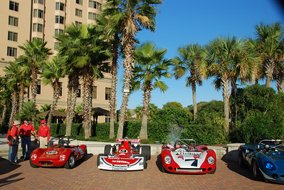 As part of the weekends events a reception for historic race cars was held at the Westin Savannah Harbor Resort