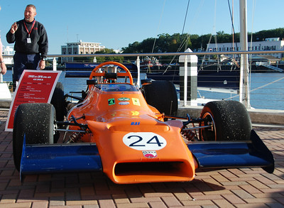 1972 McRae GM1 Formula 5000 car owned by Ray Boissoneau at the historic race car display on the lawn of the Westin Savannah Harbor Resort