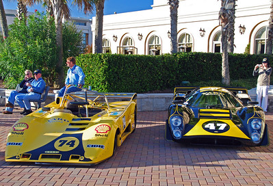 Brian Stark's 1974 Lola T294 (left) and Kenne Bristol's 1969 Lola T-70 MkIIIB GT (right)