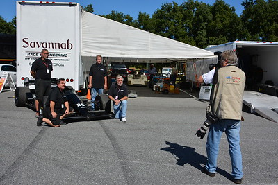 Robin Thompson,  photographer and writer for Vintage Motorsport magazine, shooting photos for upcoming story on SRE