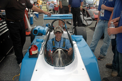 Students from Palmetto Academy for Learning Motorsports enjoying Tom Fraelich's March Super Vee