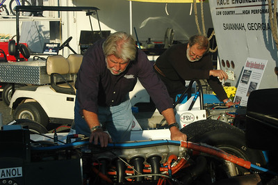 Ted Wenz and Tom Fraelich warming up those engines before the start of Sunday's race.