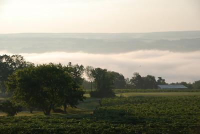 Early morning fog on Lake Seneca