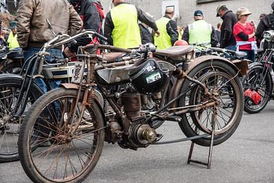 Vintage motorcycle event in Ulverstone, Tasmania